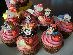 Recette Cupcakes Disney , blanche neige, Minnie, Hello Kitty