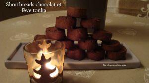 Recette Shortbreads chocolat et fève tonka