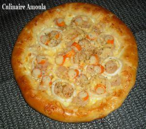 Recette Pizza fruits de mer