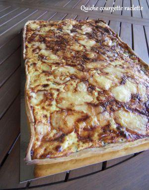 Recette Quiche courgette raclette