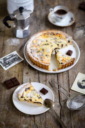 Recette Tarte à la ricotta et au chocolat comme en Italie (recette et vidéo)