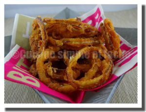 Recette Oignons frit