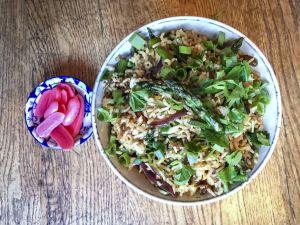 Recette Crunchy green – Riz sauté aux asperges vertes
