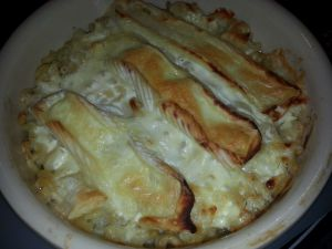 Recette Gratin de pâtes au jambon blanc et reblochon