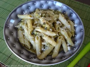 Recette One pot pasta pesto-courgette