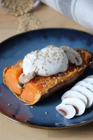 Recette Patates douces rôties aux champignons