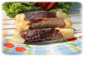 Recette Brochettes boeuf fromage
