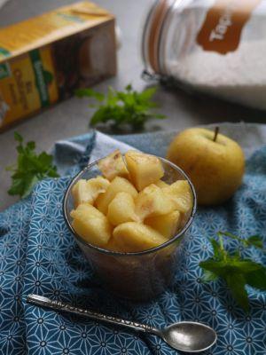 Recette Celle qui faisait…un chaud-froid de tapioca à la noisette et aux pommes {végétalien}
