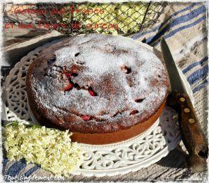 Recette Gateau aux fraises et aux fleurs de sureau