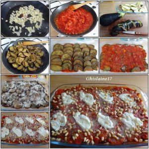 Recette Gratin aubergine, tomate, mozzarella