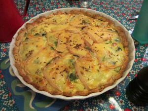 Recette Tarte savoyarde - recette de tarte aux poireaux