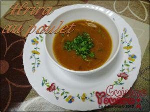 Recette Harira au poulet,soupe de légumes au poulet