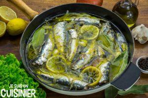 Recette Sardines marinées à l'huile d'olive et citron
