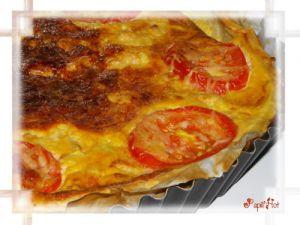 """Recette Quiche courgette poulet tomates et pesto """"Un tour rapide en cuisine n°65"""