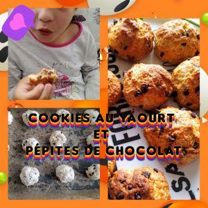 Recette Cookies au yaourt et pépites de chocolat