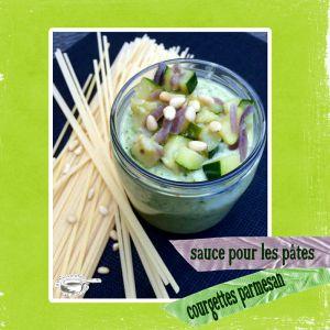 Recette Sauce pour accompagner les pâtes : courgettes & parmesan