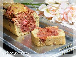 Recette Cake aux pralines roses sans gluten et sans lactose