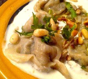 Recette Chich barak, raviolis syriens, sauce au yaourt {Syrie}