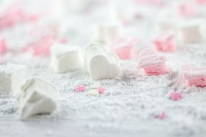 Recette Chamallow tout rose et une guimauve toute blanche
