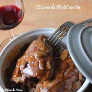 Recette Cuisses de poulet au vin
