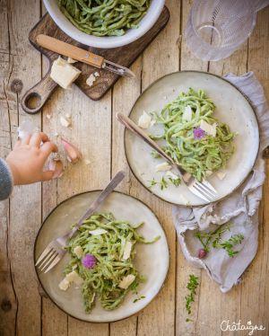 Recette Pâtes fraiches aux épinards [homemade]