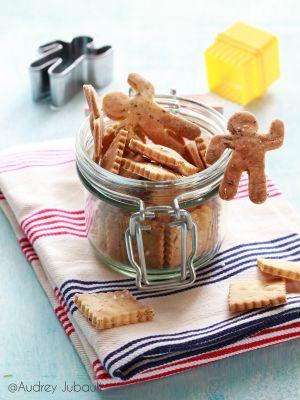 Recette Crackers à la farine de maïs et herbes de Provence