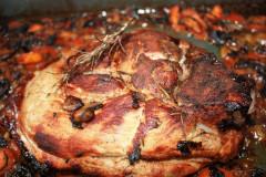 Recette Rouelle de porc au miel et au romarin