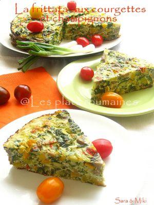 Recette Frittata aux courgettes et champignons