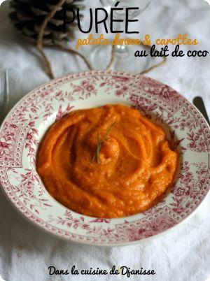 Recette Purée patate douce & carotte au lait de coco