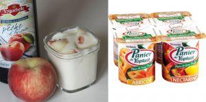 Recette Comparaison yaourt aux pêches maison / Panier de Yoplait