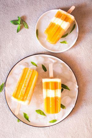 Recette Bâtonnets glacés mangue – yaourt