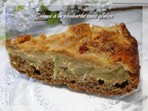 Recette Gâteau à la rhubarbe, sans gluten, farine de teff et sarrasin