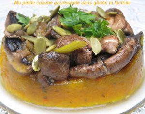 Recette Purée de potiron et poêlée de champignons