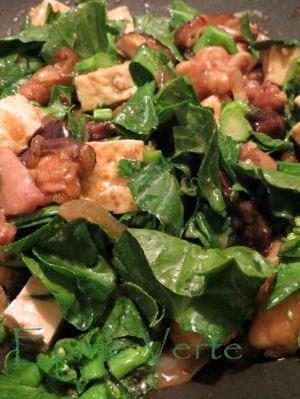 Recette Poulet piquant aux haricots noirs, aubergine et gingembre confit