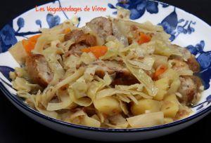 Recette Saucisses au chou blanc, pommes de terre et cidre