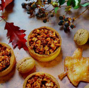 Recette Tartelettes caramel et fruits secs