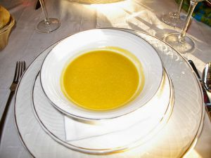 Recette Soupe à la citrouille sucrée, lait et vanille