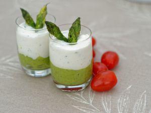Recette Mousseline d'asperges et crème de mascarpone