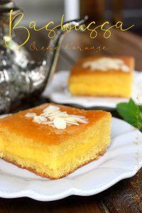 Recette Basboussa à la crème d'orange (Namoura)