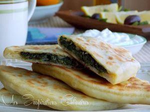 Recette Gözleme, pain turc plat aux épinards et feta