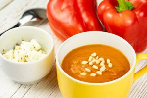 Recette Soupe froide aux poivrons rouges