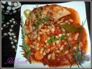 Recette Rouelle de Porc, sauce tomate aux haricots blancs