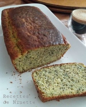 Recette Cake au citron et pavot (à la courgette)