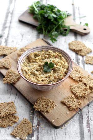 Recette Houmous de betterave jaune et crackers aux flocons d'avoine