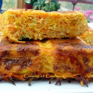 Recette Gâteau de légumes 4 fois orangé