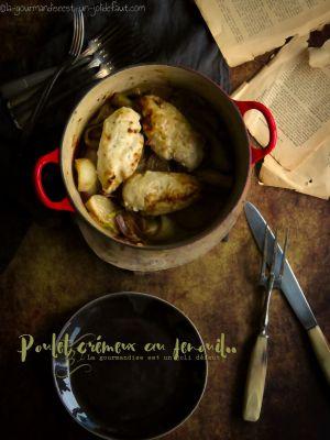 Recette Poulet crémeux au fenouil et au basilic