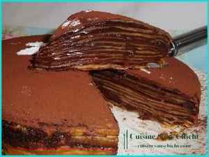 Recette Gâteau de crêpes au chocolat et pâte à tartiner