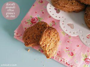 Recette Biscuits amandes, citron et graines de chia