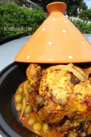 Recette Cuisine Marocaine-Poulet à la marocaine