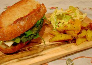 Recette Hamburger de pois chiches et épinards